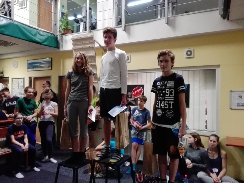 Klára, Ondra a Ondra na stupních vítězů, kategorie 13-14 let