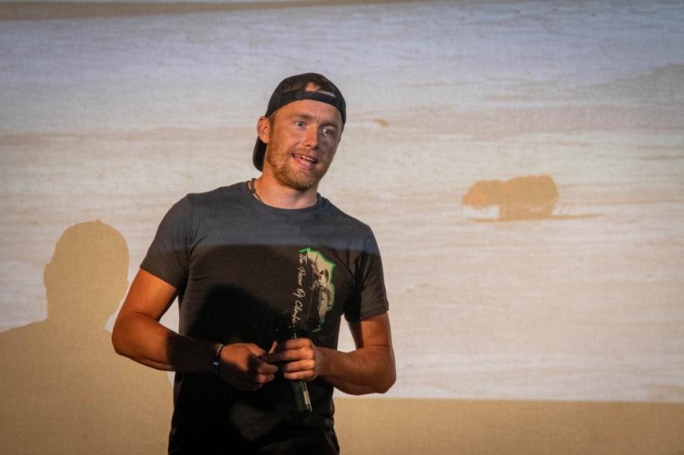 Hlavní host festivalu Leo Houlding.